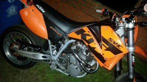 KTM 625 SMC lC4 2005 Stolen in Derby Street